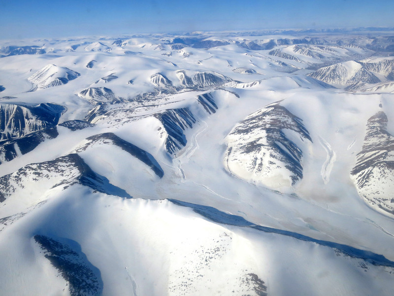 Looking back to Baffin Island from Eclipse Sound just south of the eastern tip of Bylot Island