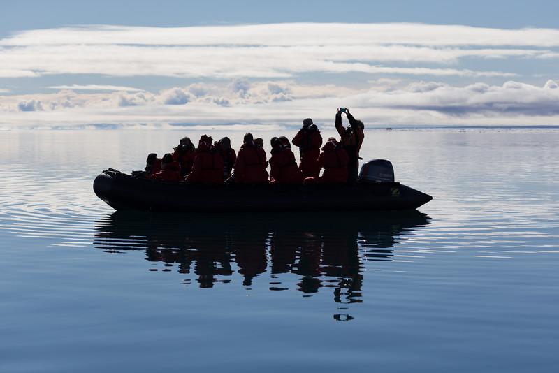 Zodiac cruise in Navy Board Inlet
