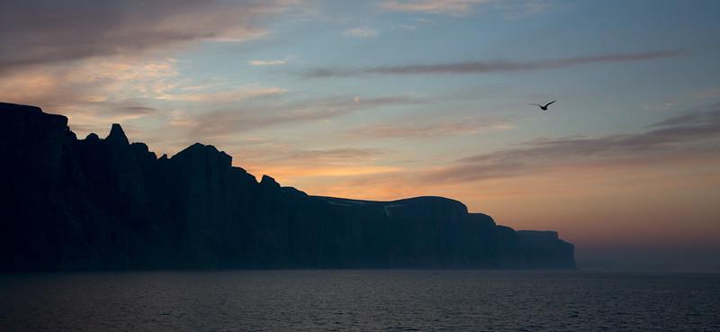 Sunset as we left Gibb's Fjord