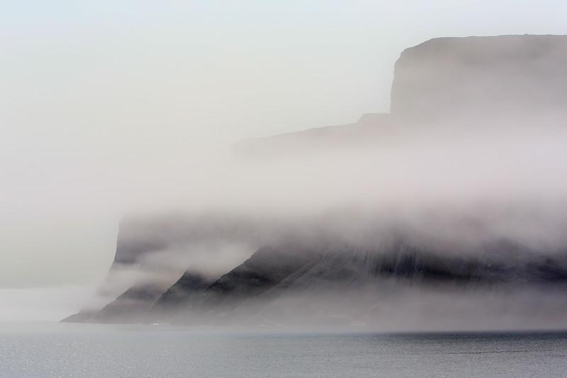 Fog in Sunneshine Fjord