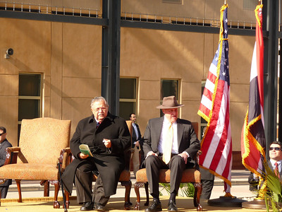 Iraq President Jalal Talabani with Dept Secretary of State John Negroponte. January 5, 2009.