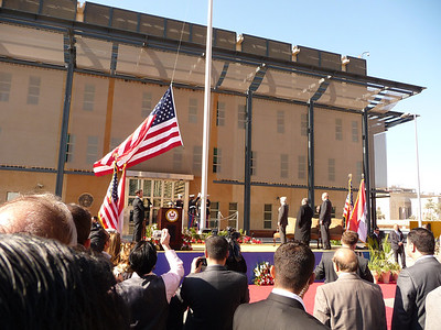 The official opening of the US Embassy Baghdad, Iraq was January 5, 2009.