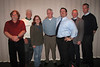 WALPB Band Officers and Past Four Band Members of the Year: Bandmaster Steve Ruggles, PC Jack Sullivan, '05, Kathy Leistner '07, Rich Denninger, '08, Steve Camp, '06, PS John Stone, and PM Chris  Murphy.