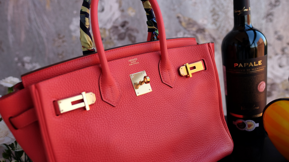 bb594c472cac HERMES Birkin 30cm rouge red gold hardware leather bag purse togo ...