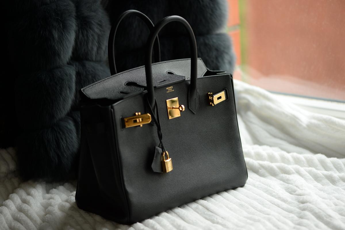 cc2882ff69 Details about HERMES Birkin BLACK 30cm EPSOM gold 30 togo bag purse 2016  handbag