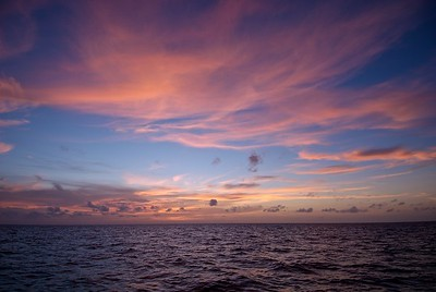 Sunset near the Bahamas