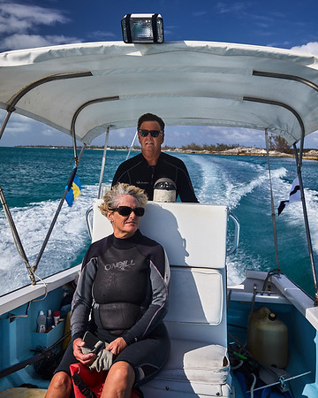 Steve Connett and Barbara Crouchley out on a mission to tag & measure turtles for the Archie Carr Center for Sea Turtle Research