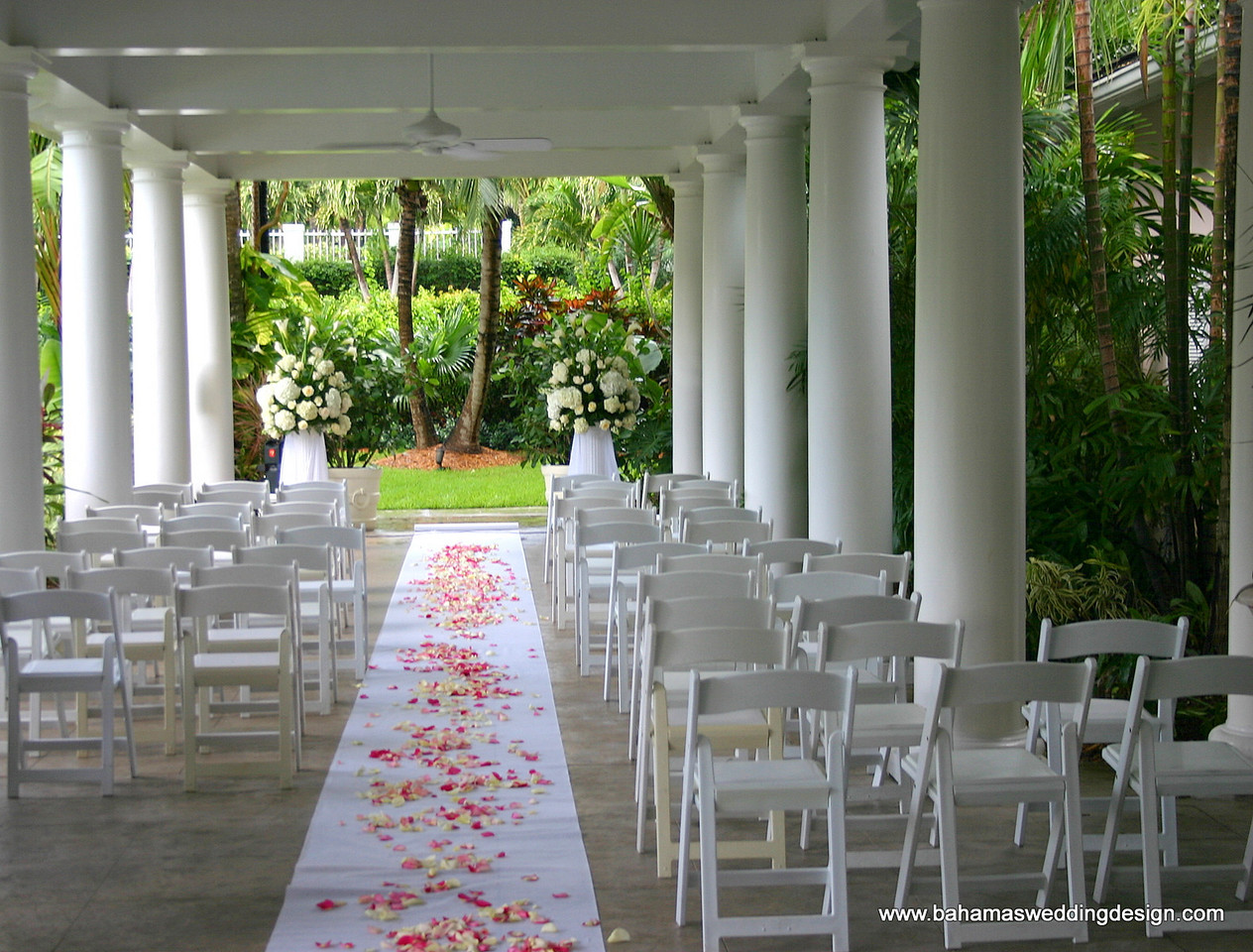 Altar Arrangements - White Hydrangea, calla lilies, white roses