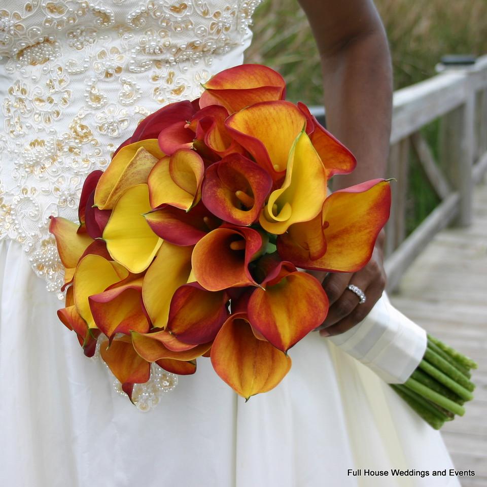 Bouquet - Mango Calla Lilies