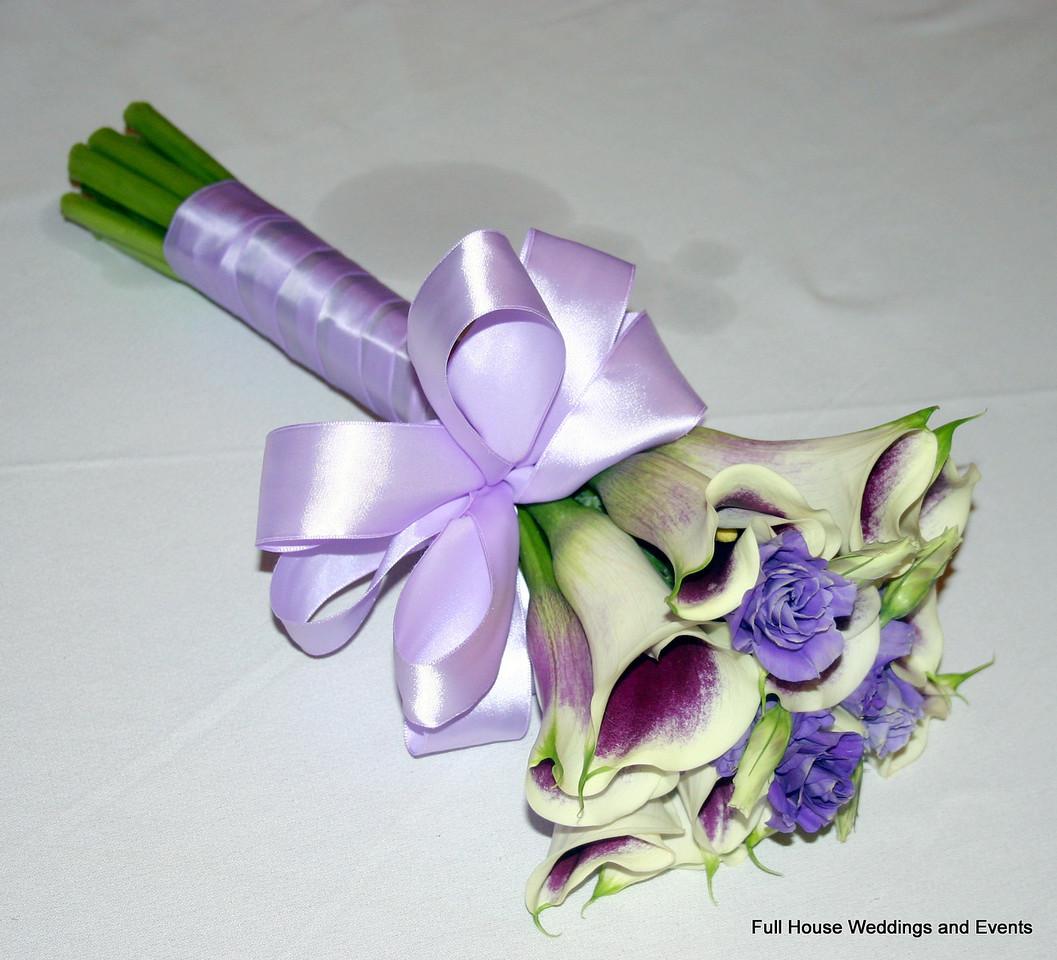 Bouquet - Bi Color Purple/White Mini Calla and Purple Lisianthus