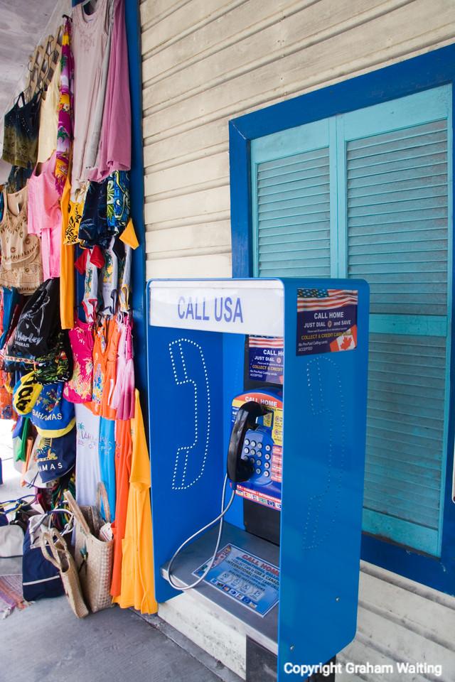 Telephone call box at Port Lucaya, Grand Bahama Grand Bahama
