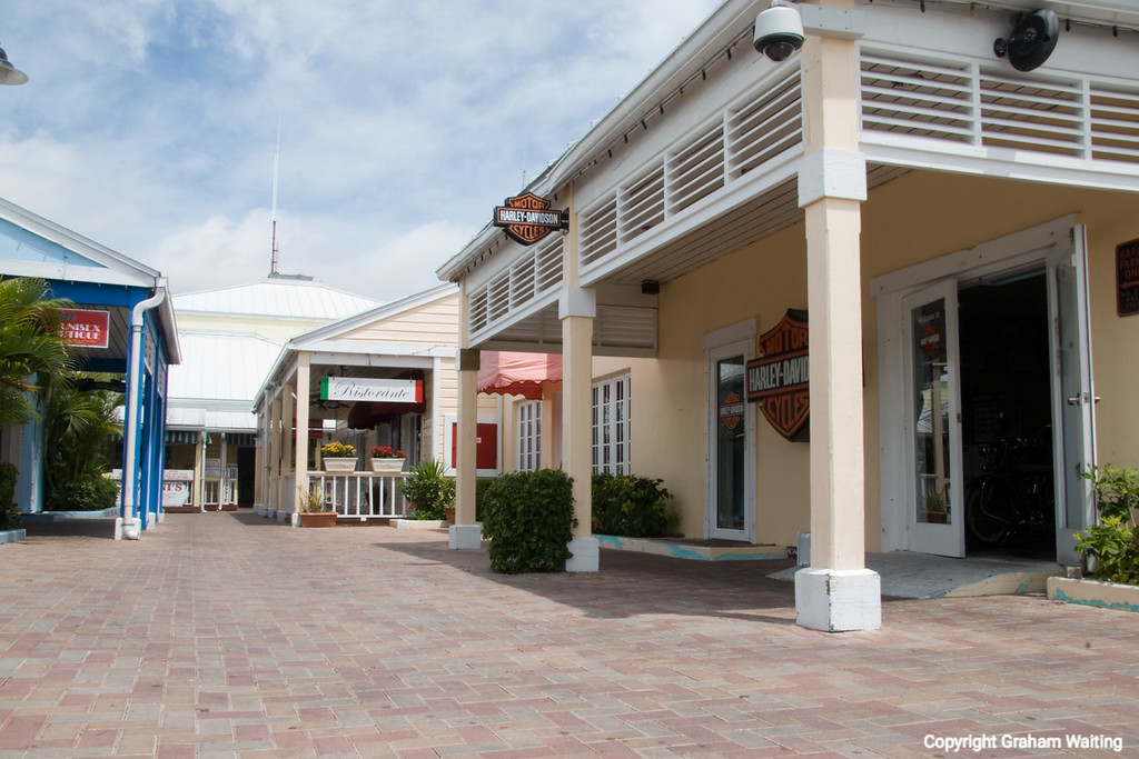 Exterior view of the Harley Davidson store in Port Lucaya, Grand Bahama Grand Bahama