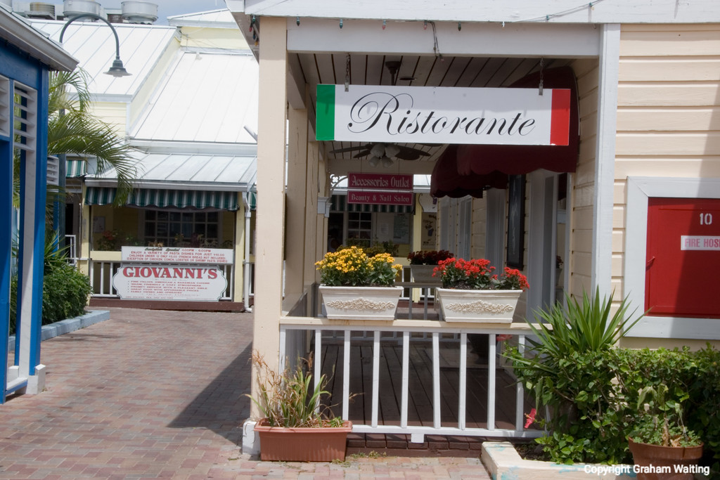 Restaurant in market place in Port Lucaya, Grand Bahama Grand Bahama