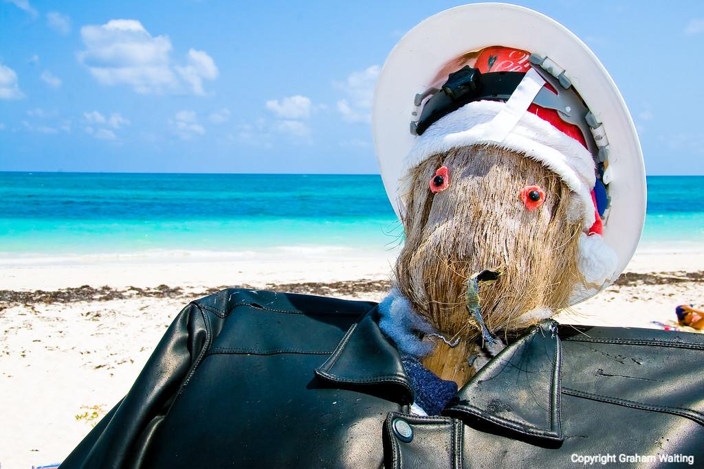 Coconut man at Bishops beach, Grand Bahama Grand Bahama