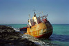Galant (sic) Lady, near Alice Town, north Bimini, Bahamas, January 1999 2.  The ship's rusting hulk was still there in 2015.