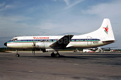 Flamingo Airlines Convair 340-32 N3413 (msn 37) NAS (Christian Volpati). Image: 920403.