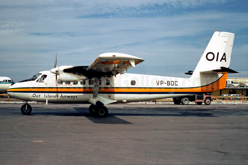 Out Island Airways-OIA de Havilland Canada DHC-6-100 Twin Otter VP-BDC (msn 86) NAS (Christian Volpati). Image: 920612.