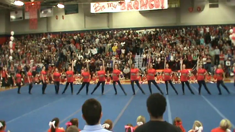 Kick Routine Pep Rally Video 2-16-12