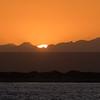 A spectacular sunrise in San Ignacio Lagoon
