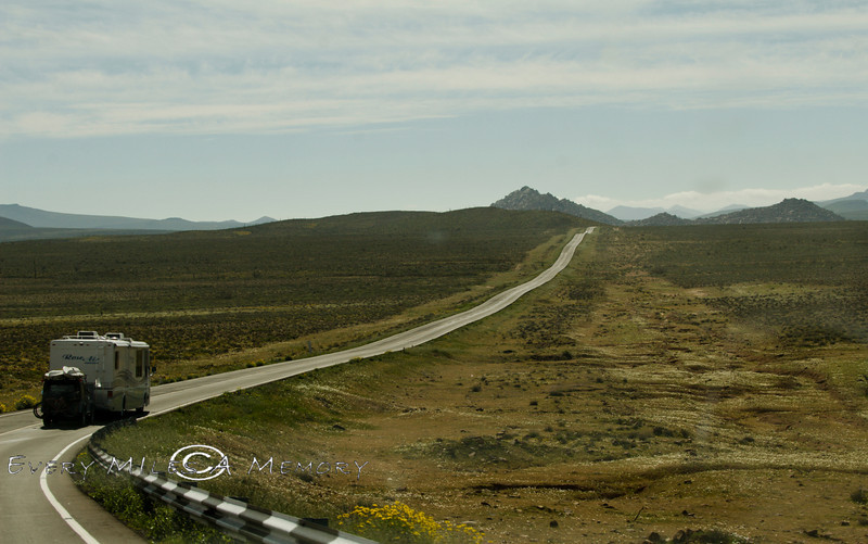 Miles of nothing but Scrub Brush - Northern Baja California - Photo by Cindy Bonish
