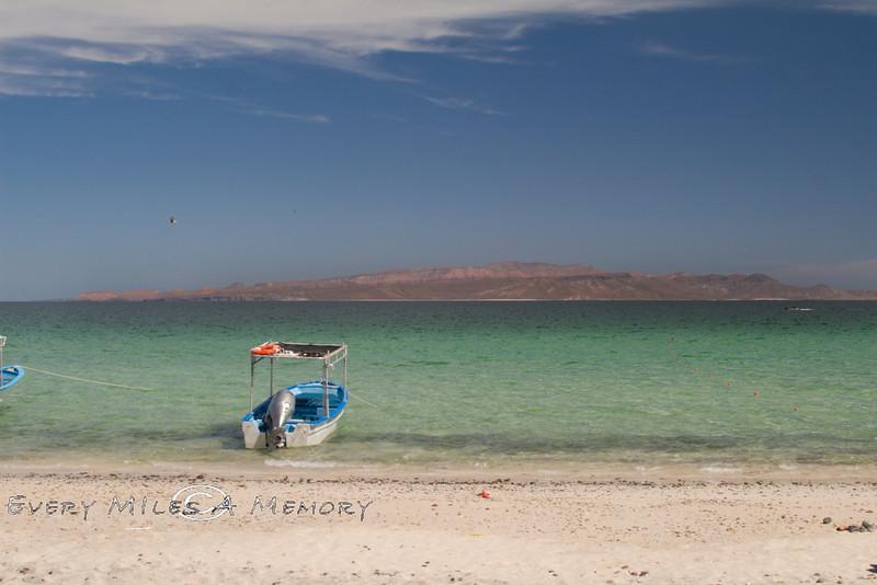 Looking across the Bay at Isla Espiritu Santo, Baja California Sur, Mexico