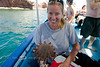 Cindy with a Giant Sea Star - Isla Espiritu Santo, Baja California Sur, Mexico