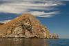Isla Espiritu Santo Jutting out of the Sea of Cortez, Baja California Sur, Mexico
