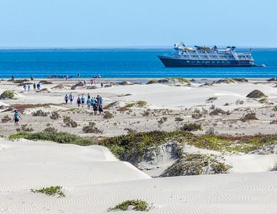 Crossing Isla de Magdalena and  returning to the National Geographic Sea Bird anchored on Bahía Magdalena.  Baja California Sur, Mexico.