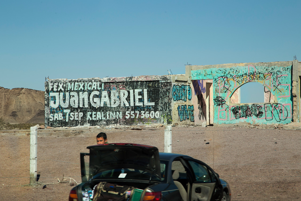 Graffiti on old structure