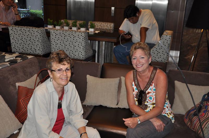 Joan and Valarie at Hotel