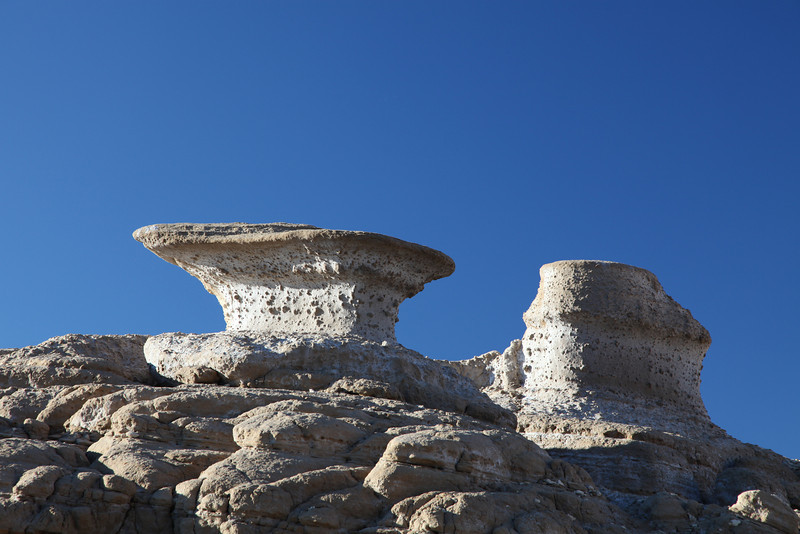 Rock formations at Punta Colorada on Isla San Jose