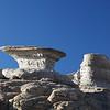 Rock formations at Punta Colorada on Isla San Jose