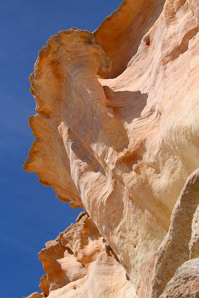 Rock faces at Punta Colorada on Isla San Jose