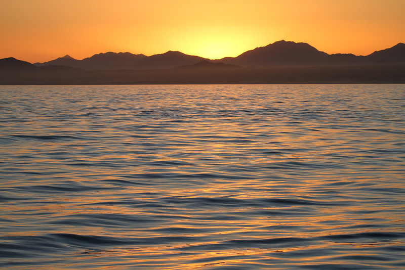 Sunset over the Baja Peninsula