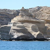 Rock faces at Punta Colorada on Isla San Jose