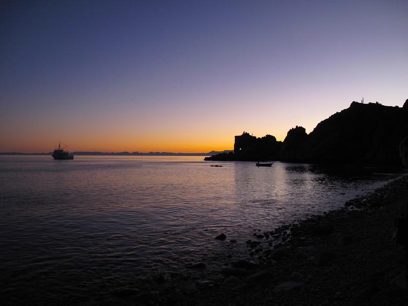 Sunset near Isla Santa Catalina