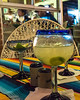 my first margarita of the night at Restaurant Equipales, Mulege