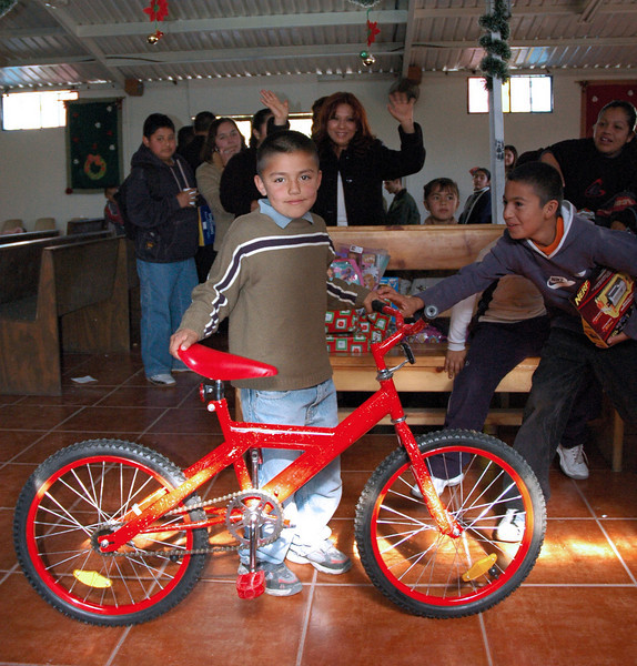 Was this little guy proud of his new bike?  Such a generous donation from one of our Nomads!