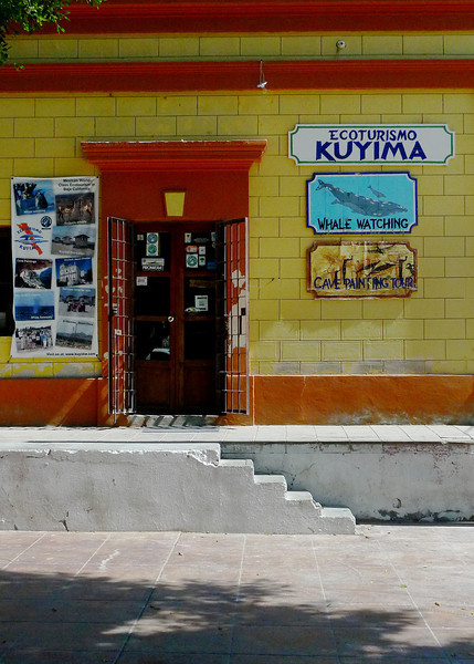 Store front of Kuyima in San Ignacio (SE corner of square) where you can purchase tickets.