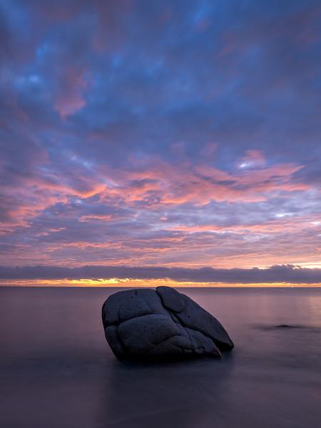 Big Rock and Pre-Sunrise Clouds