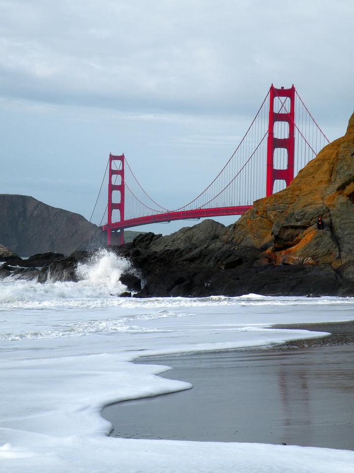 Baker Beach Golden Gate Bridge