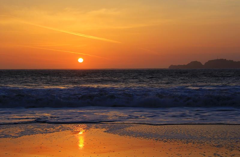 Baker Beach At Sunset