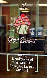 Store hours on the door