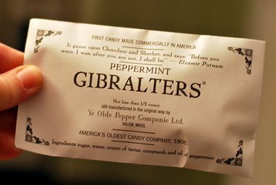 A package of Peppermint Gibralters