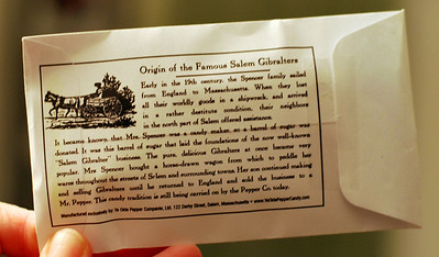 The back of a Gibralter package.