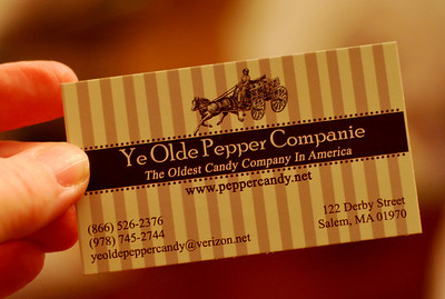 Business card for Ye Olde Pepper Companie