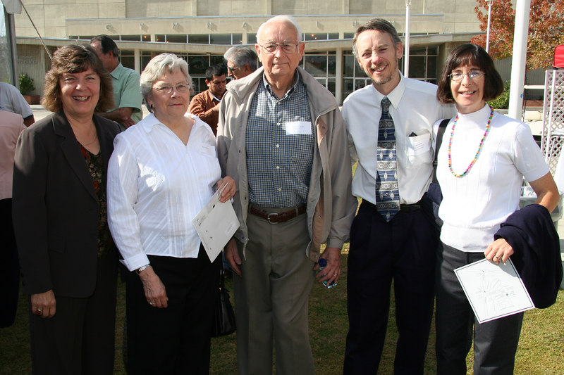 Nick Strobel with his wife and parents and Trustee Pauline Larwood.