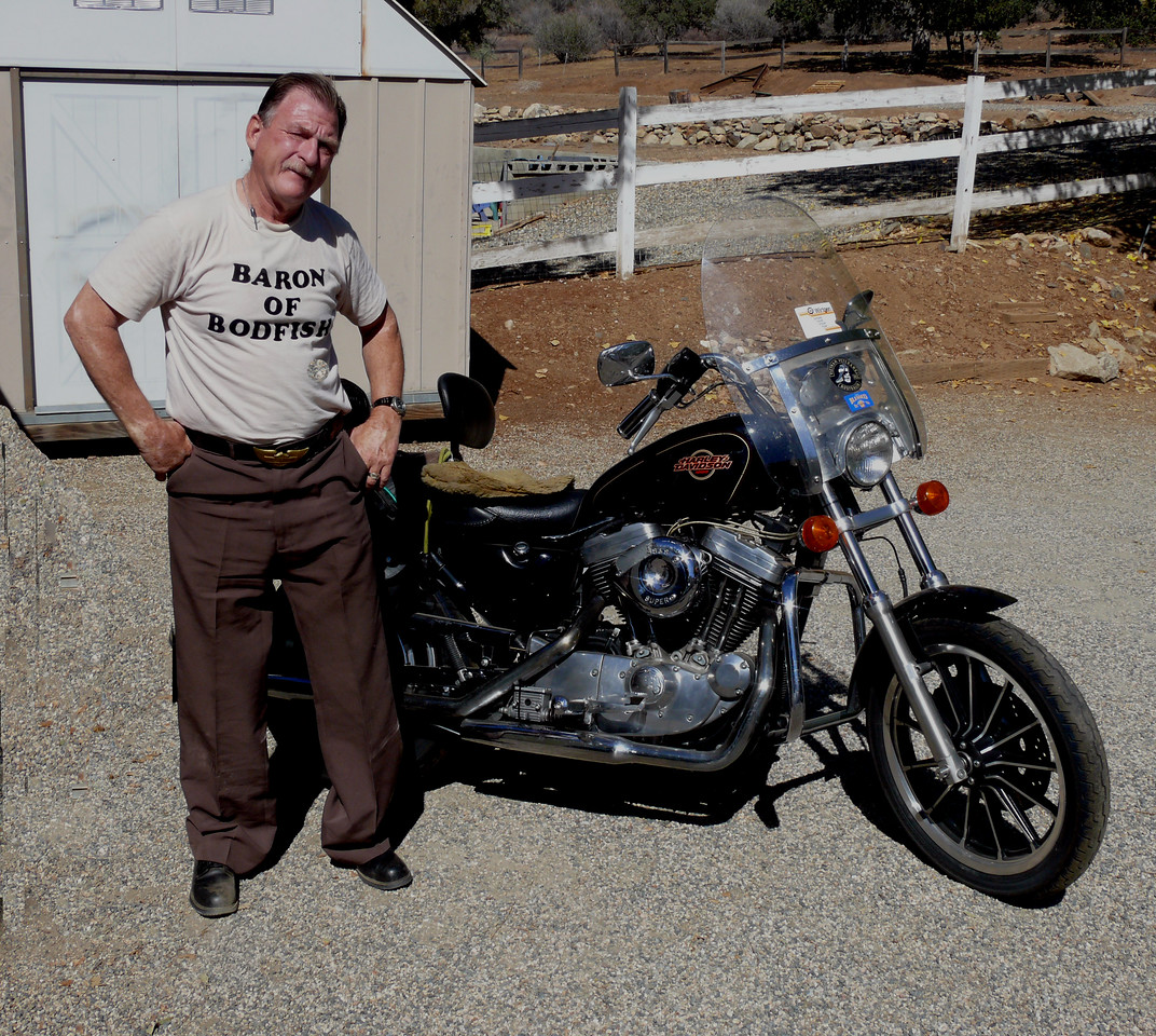 Dave Barr at home with HD Sportster 1200