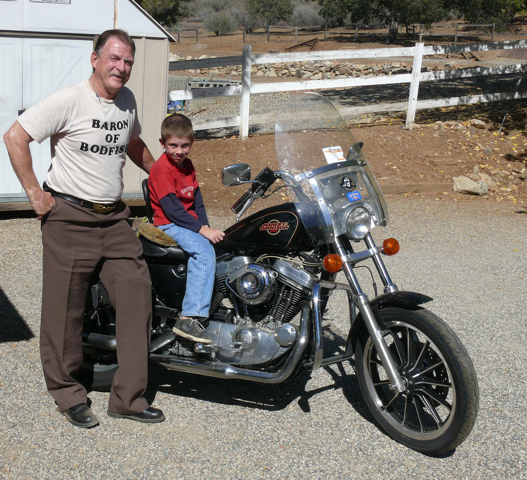 Dave Barr and son Luke at home in Bodfish, Ca.