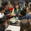Students at the Boys & Girls Club of North Central MA learned to make winning cranberry chip cookies with Program Instructor Sharon Jorgensen who the students called Chef Sharon on Wednesday afternoon at the club. Jorgensen talks the kids through the recipe. SENTINEL & ENTERPRISE/JOHN LOVE